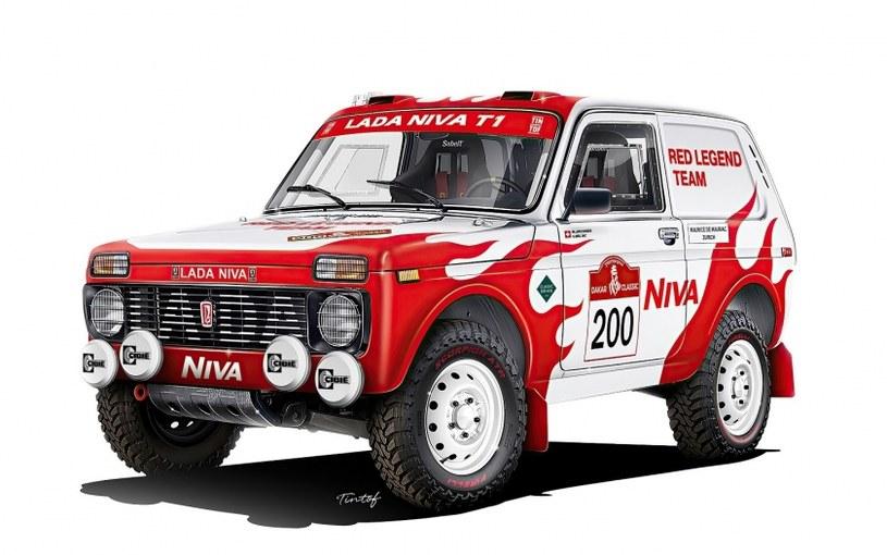 Łada Niva z 1984 roku w barwach NIVA RED LEGEND TEAM /
