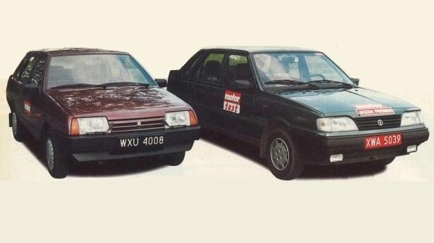 Łada Samara kontra Polonez Atu. Ich kanciaste sylwetki wyróżniają się na tle innych, współcześnie produkowanych samochodów. /Motor