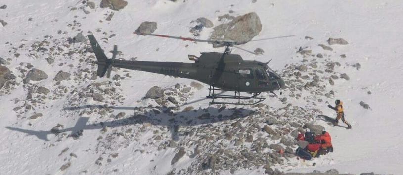 Lądowanie AS550 Fennec /AFP