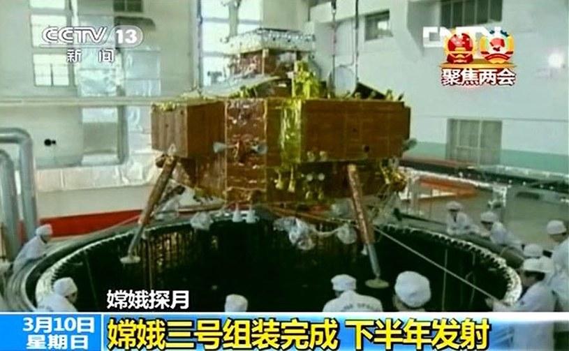 Lądownik i łazik misji Chang'e 3 podczas testów / Fotografia: CNSA /Kosmonauta