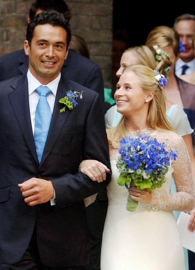 Lady Davina Windsor i Gary Lewis w dniu ślubu /Tim Graham /Getty Images
