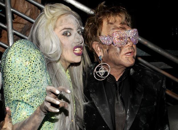 Lady Gaga i Elton John na gali Grammy w 2010 roku - fot. Christopher Polk /Getty Images/Flash Press Media