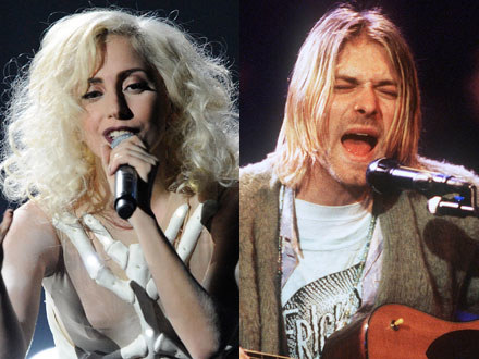 Lady GaGa i Kurt Cobain fot. Kevork Djansezian/Frank Micelotta /Getty Images/Flash Press Media