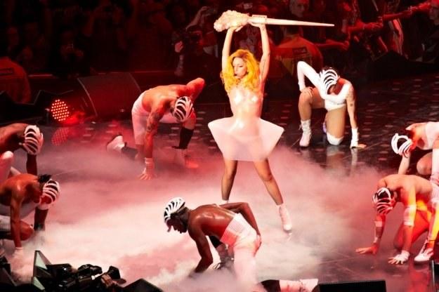 Lady GaGa podczas występu w Polsce - fot. Artur Rozbiewski /INTERIA.PL