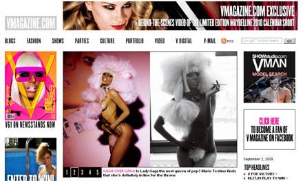 """Lady GaGa w magazynie """"V"""" /"""