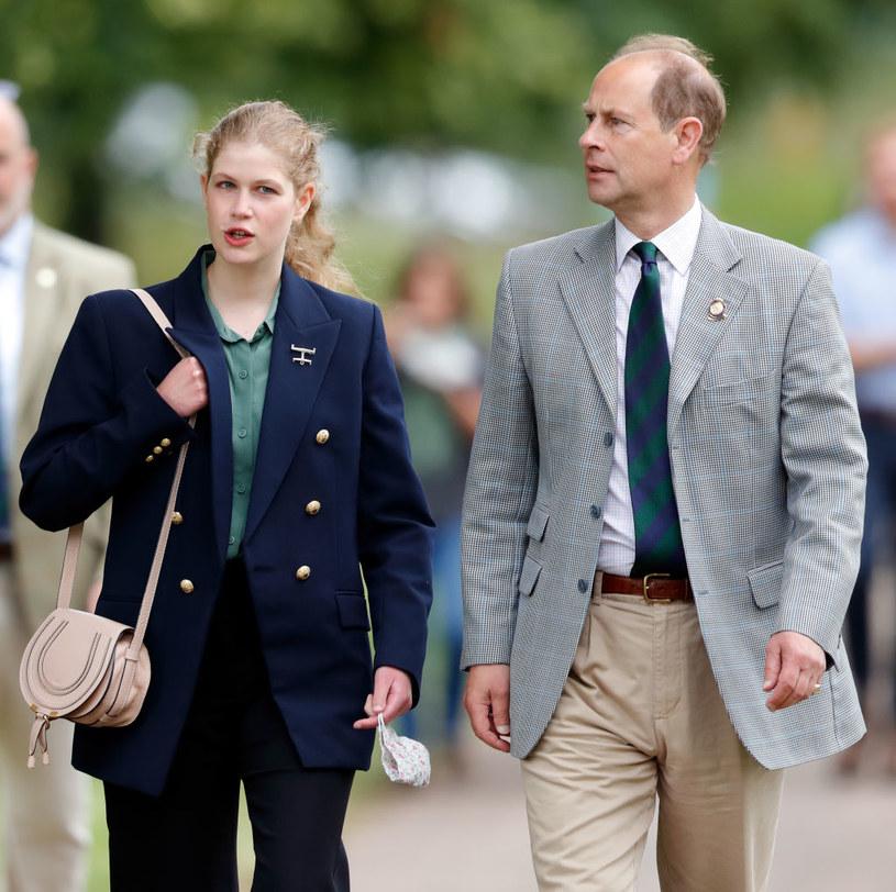 Lady Ludwika Windsor z ojcem, księciem Edwardem /Max Mumby/Indigo /Getty Images