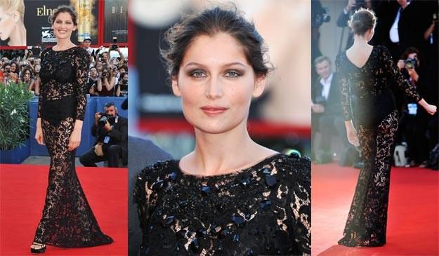Laetitia Casta na czerwonym dywanie podczas ceremonii otwarcia festiwalu w Wenecji. /Getty Images/Flash Press Media