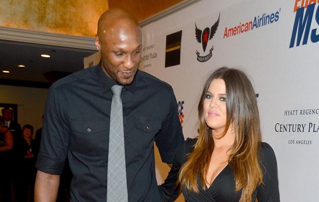Lamar Odom i Khloe Kardashian /Frazer Harrison /Getty Images