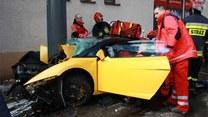 Lamborghini na słupie