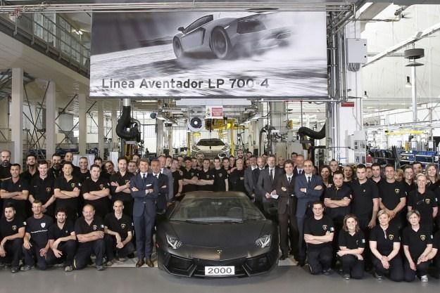 Lamborghini wyprodukowało dwutysięcznego Aventadora /