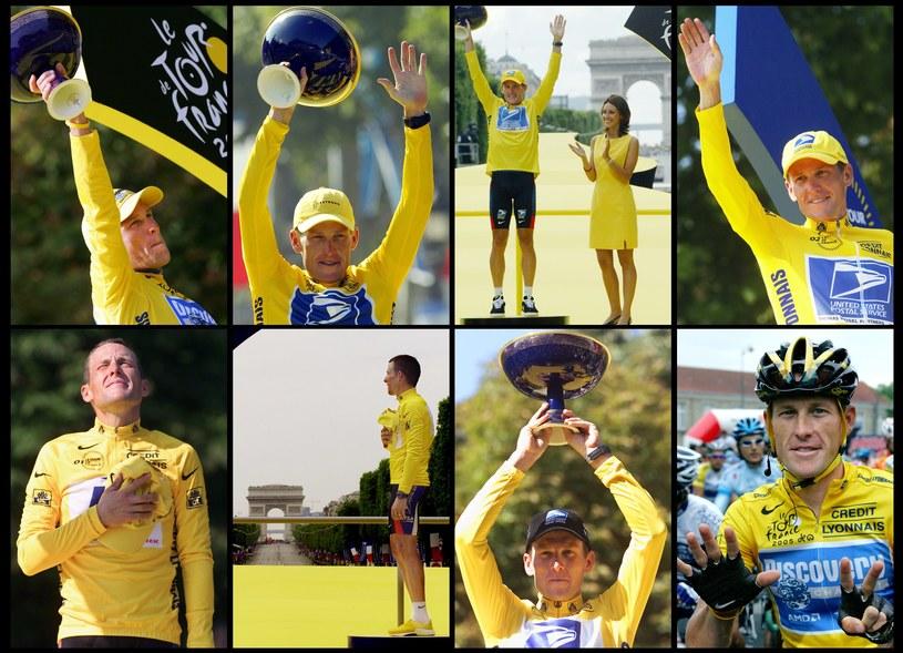 """Lance Armstrong siedem razy wygrał """"Wielką Pętlę"""" /AFP"""