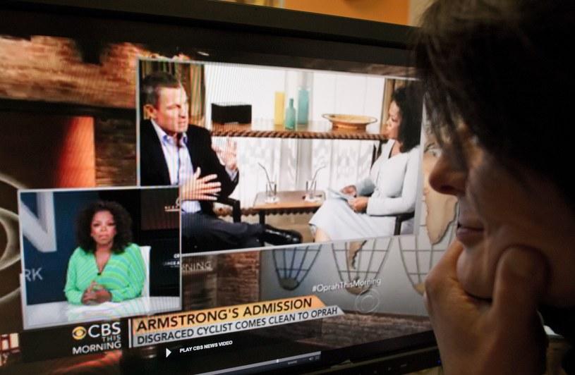 Lance Armstrong w rozmowie z Oprą Winfrey przyzna się do stosowania dopingu? /AFP