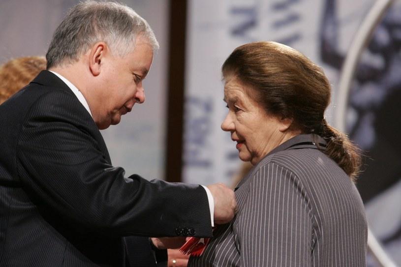 Łaniewska i Kaczyński /- /East News