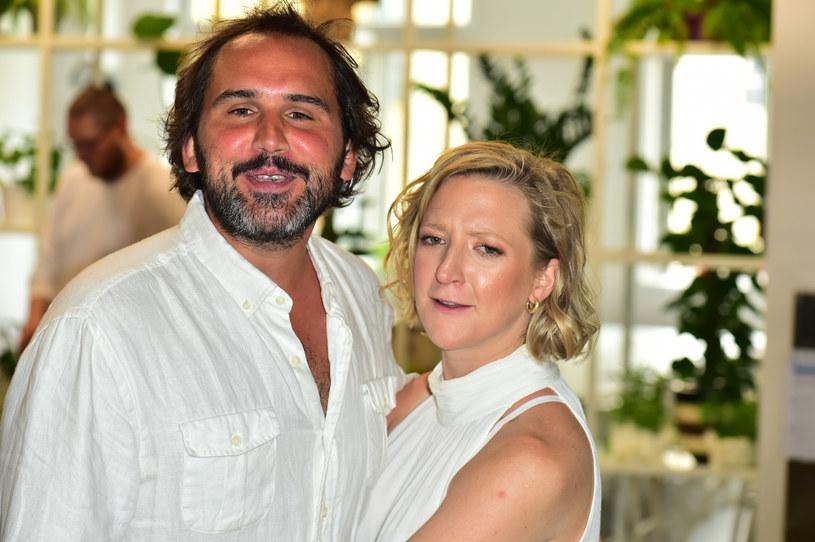 Lara Gessler i Piotr Szeląg pobrali się kilka dni temu /Artur Zawadzki /Reporter