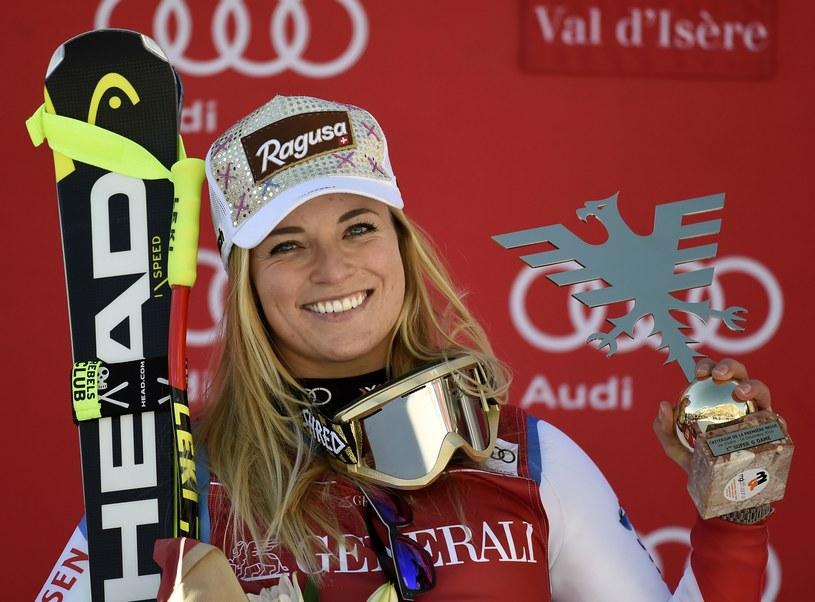 Lara Gut wygrała plebiscyt na sportowca roku w Szwajcarii /fot. Philippe de Smazes /AFP
