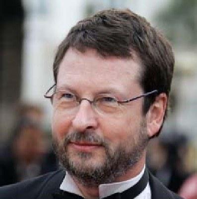 "Lars von Trier podczas premiery ""Manderlay"", Cannes 2005 /AFP"