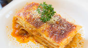 Lasagne z dynią i pomidorami