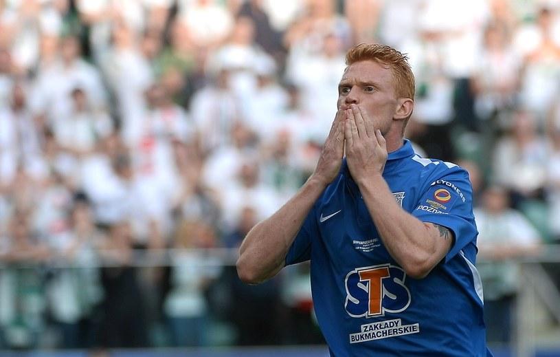 Lasse Nielsen może zostać gwiazdą Lecha Poznań. Duńczyk zadebiutował w spotkaniu o Superpuchar Polski i strzelił bramkę /Bartłomiej Zborowski /PAP