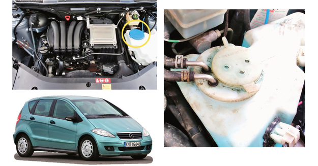 Łatwo dostępny wlew płynu do spryskiwaczy ma tylko klasa A i B poprzedniej generacji - aktualna już nie. /Motor