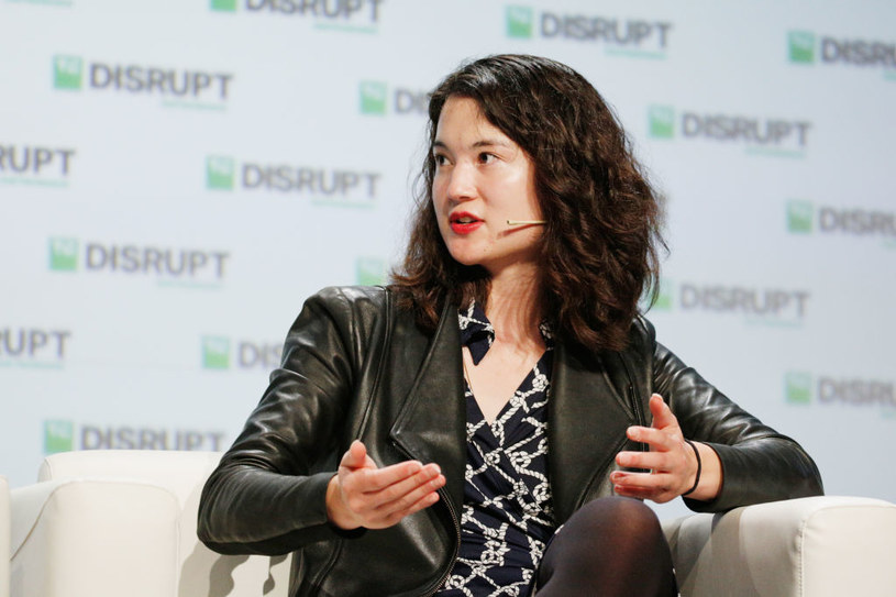 Laura Deming podczas przemowy dla TechCrunch Disrupt SF 2018 /Kimberly White /Getty Images