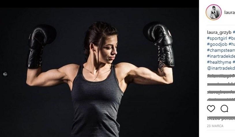 Laura Grzyb z klubu Global Boxing Tarnów /instagram/laura_grzyb /