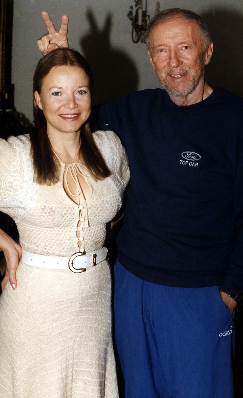 Laura Łącz i Krzysztof Chamiec w 2000 r. /MICHAL KULAKOWSKI/REPORTER /East News
