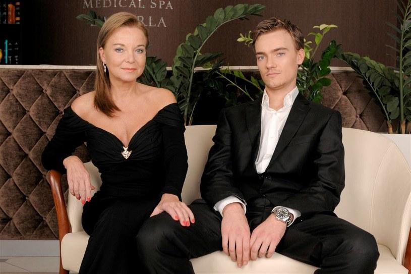 Laura Łącz z synem... /Agencja W. Impact