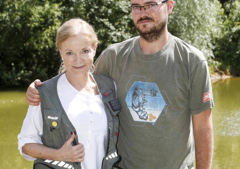 Laura Łącz z synem /AKPA