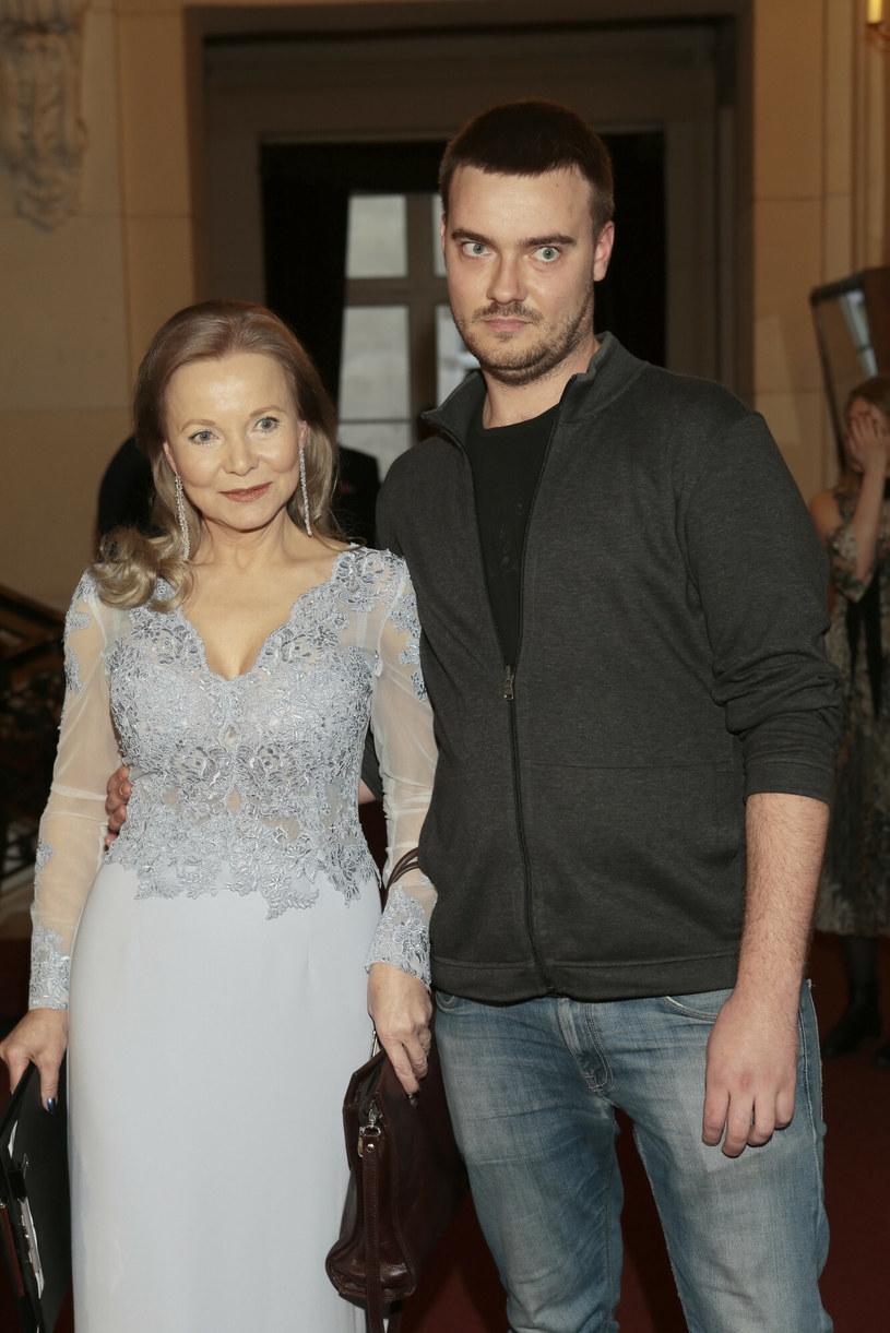 Laura Łącz z synem /Adam Jankowski /Reporter