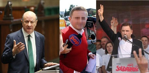 Laureaci Gospodarczych Malin: J. Rostowski, Marcin P. i NSZZ Solidarność fot. AgencjaSE/PAP/REPORTER /