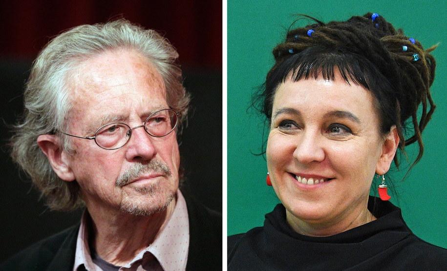 Laureaci literackiej Nagrody Nobla 2018 i 2019 /GEORG HOCHMUTH / FACUNDO ARRIZABALAGA /PAP