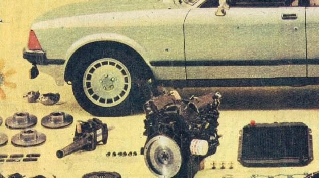 """Laureat """"Srebrnej cytryny"""" ADAC - Ford Granada '77 z przebiegiem 48 tys. km. Na tym dystansie niezbędna była wymiana ponad 60 elementów, m.in. silnika i sprzęgła. /Motor"""