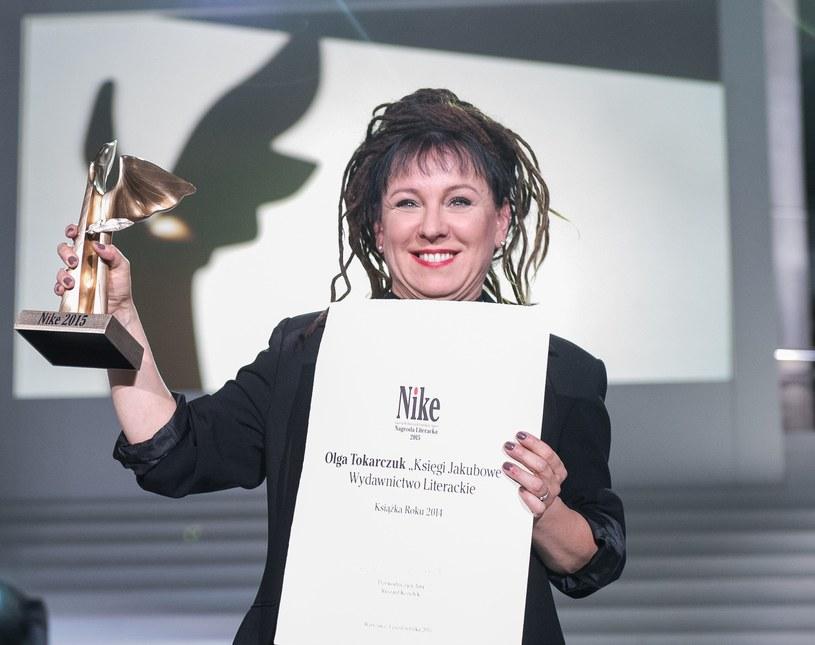 Laureatka ubiegłorocznej Nagrody Literackiej Nike - Olga Tokarczuk /Jacek Domiński /Reporter