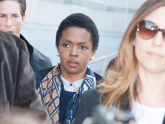 Lauryn Hill po wyjściu z sądu fot. Dave Kotinsky /Getty Images/Flash Press Media