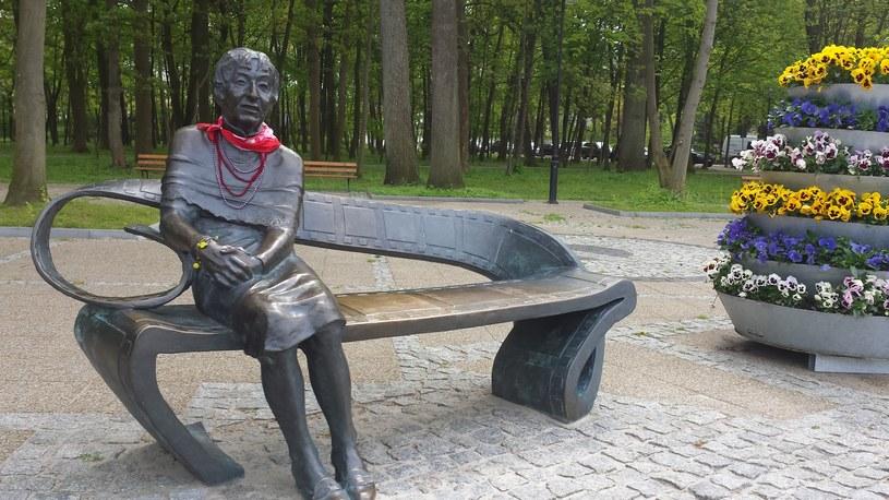 Ławeczka Ireny Kwiatkowskiej, fot. Grzegorz Skrzypak /materiały prasowe