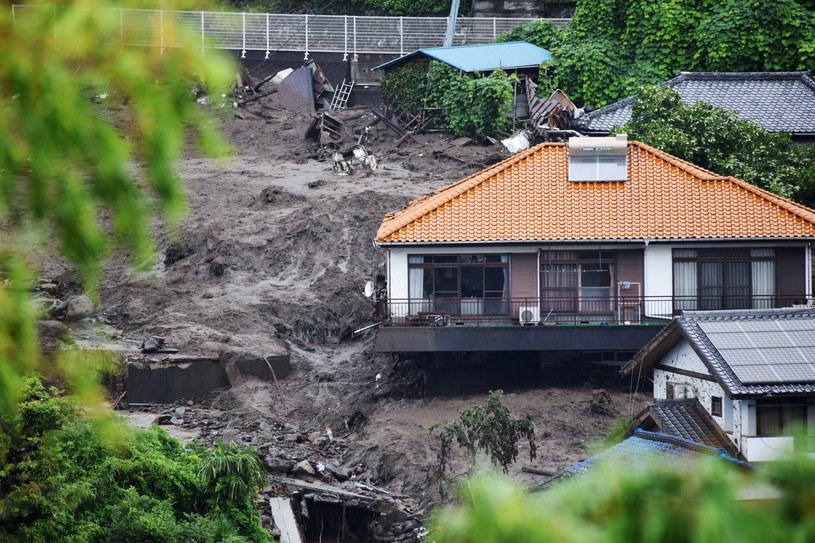 Lawina błotna w Japonii /PAP/EPA/JIJI PRESS /PAP