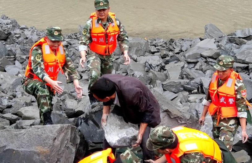 Lawina w Chinach /AFP