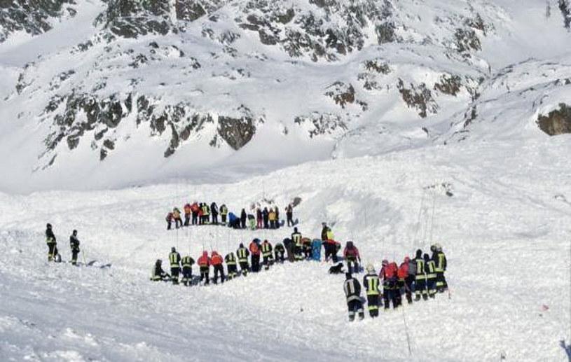 Lawina zeszła na stok narciarski w Val Senales koło Bolzano /ANSA/Associated Press /East News