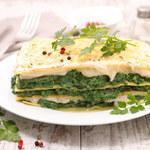Lazania wegetariańska z dwoma serami