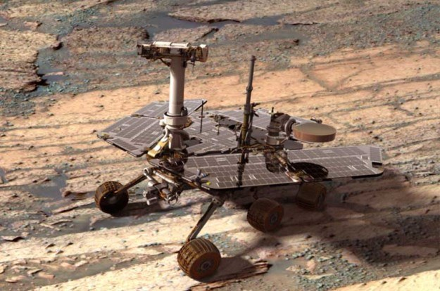 Łazik Opportunity już dotarł do podnóża Solander Point /NASA