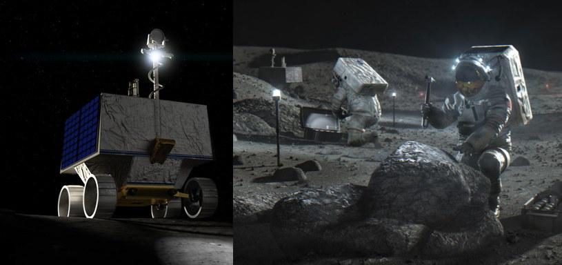 Łazik VIPER i wizualizacja podróży na Księżyc /materiały prasowe