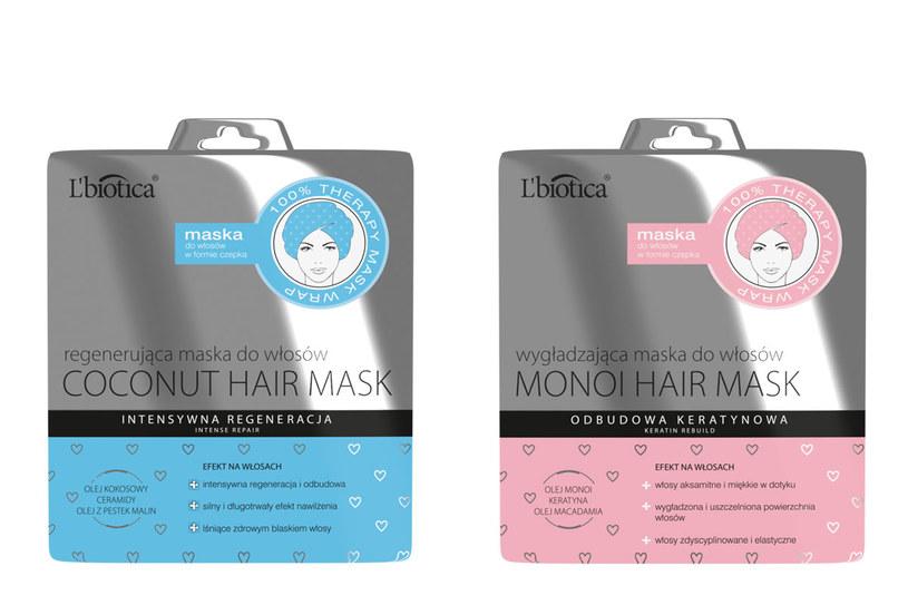 L'biotica: Maska w formie czepka Monoi Hair Mask /materiały prasowe