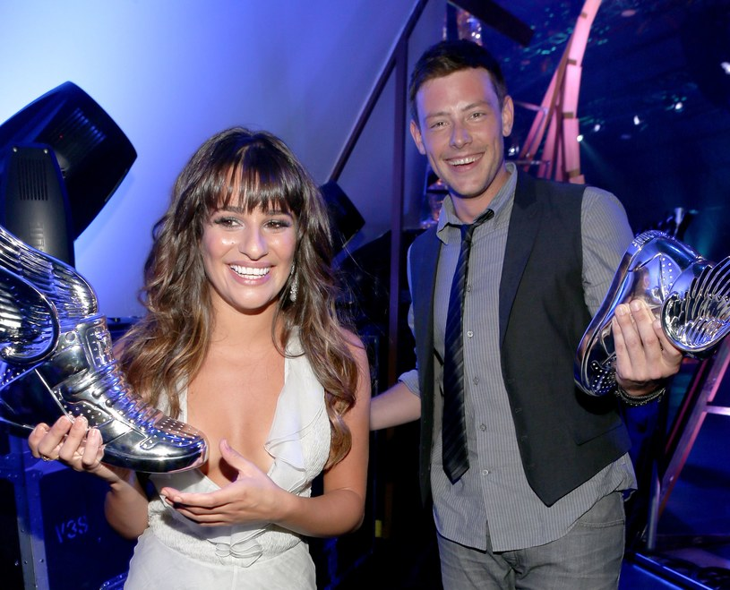 Lea Michele i Cory Monteith w 2012 r. /Christopher Polk /Getty Images