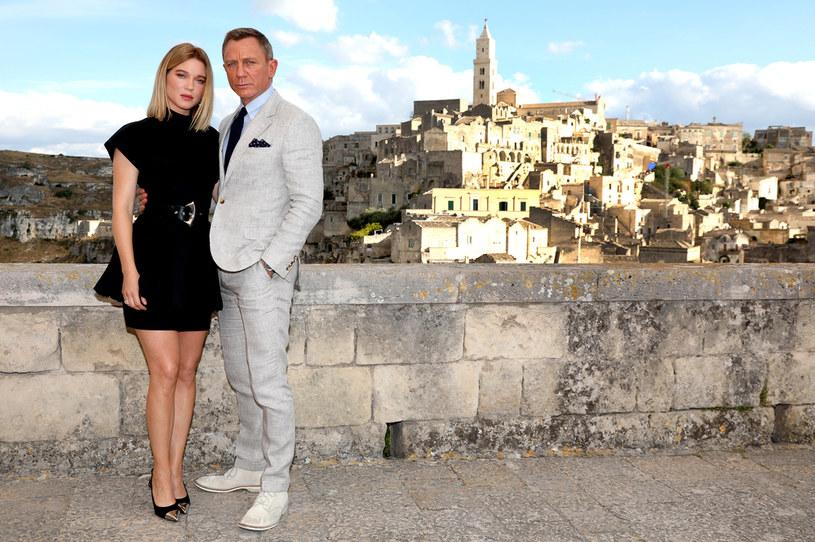 """Léa Seydoux i Daniel Craig na planie filmu """"Nie czas umierać"""" /Franco Origlia /Getty Images"""