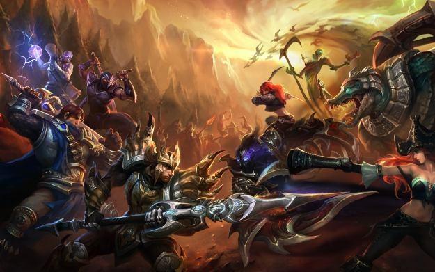 League of Legends - motyw graficzny /Informacja prasowa