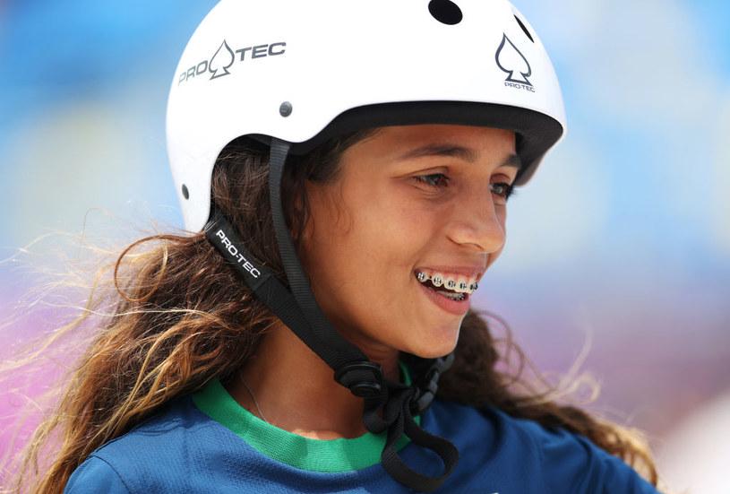 Leal w poniedziałek zajęła drugie miejsce w skateboardingu kobiet w Tokio. Została  tym samym najmłodszym sportowcem w historii Brazylii, który zdobył medal olimpijski / Patrick Smith / Staff /Getty Images