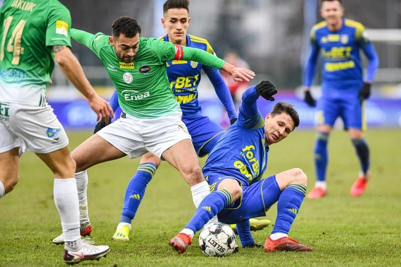 LEANDRO (po lewej) MACIEJ JANKOWSKI (po prawej) /Jacek Prondzynski /Newspix