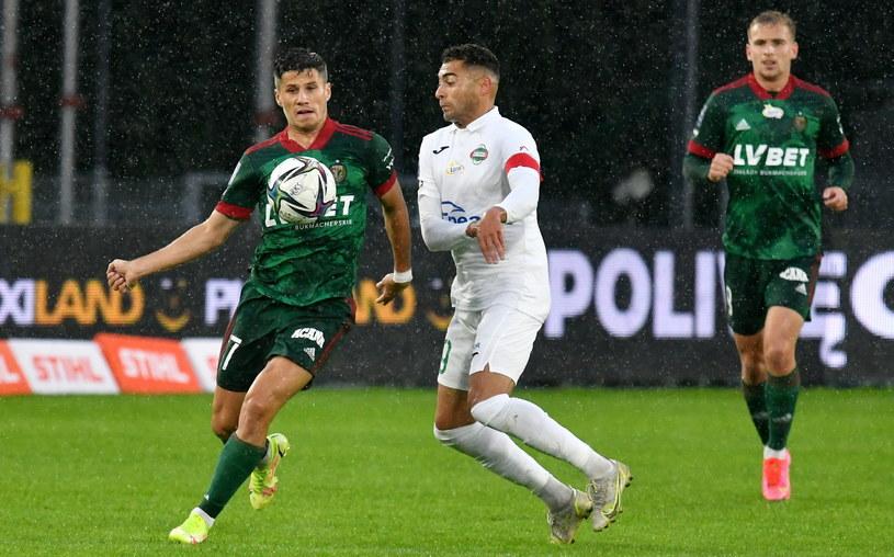 Leandro (w białej koszulce) i Petr Schwarz w meczu Radomiak - Śląsk /PAP/Piotr Polak /PAP