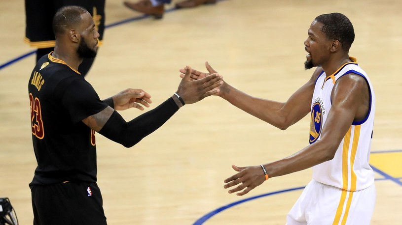 LeBron James (z lewej) i Kevin Durant /Getty Images
