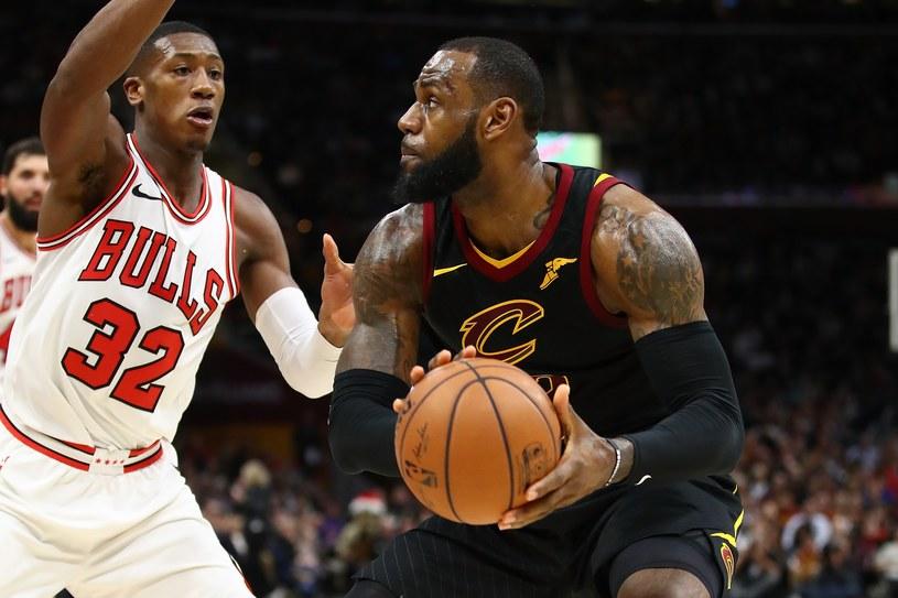 LeBron James zdobył 34 punkty w meczu z Chicago Bulls /AFP